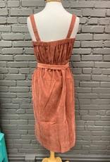 Dress Gertrude Corduroy Button Midi Dress