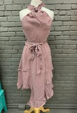 Dress Octavia Print Ruffle Halter Dress