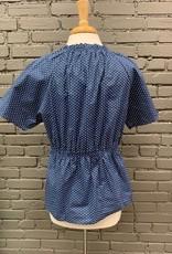 Shirt Hayden Polka Dot Ruffle Smock Top