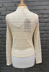 Long Sleeve Nellie Ruched Drawstring Lace Top