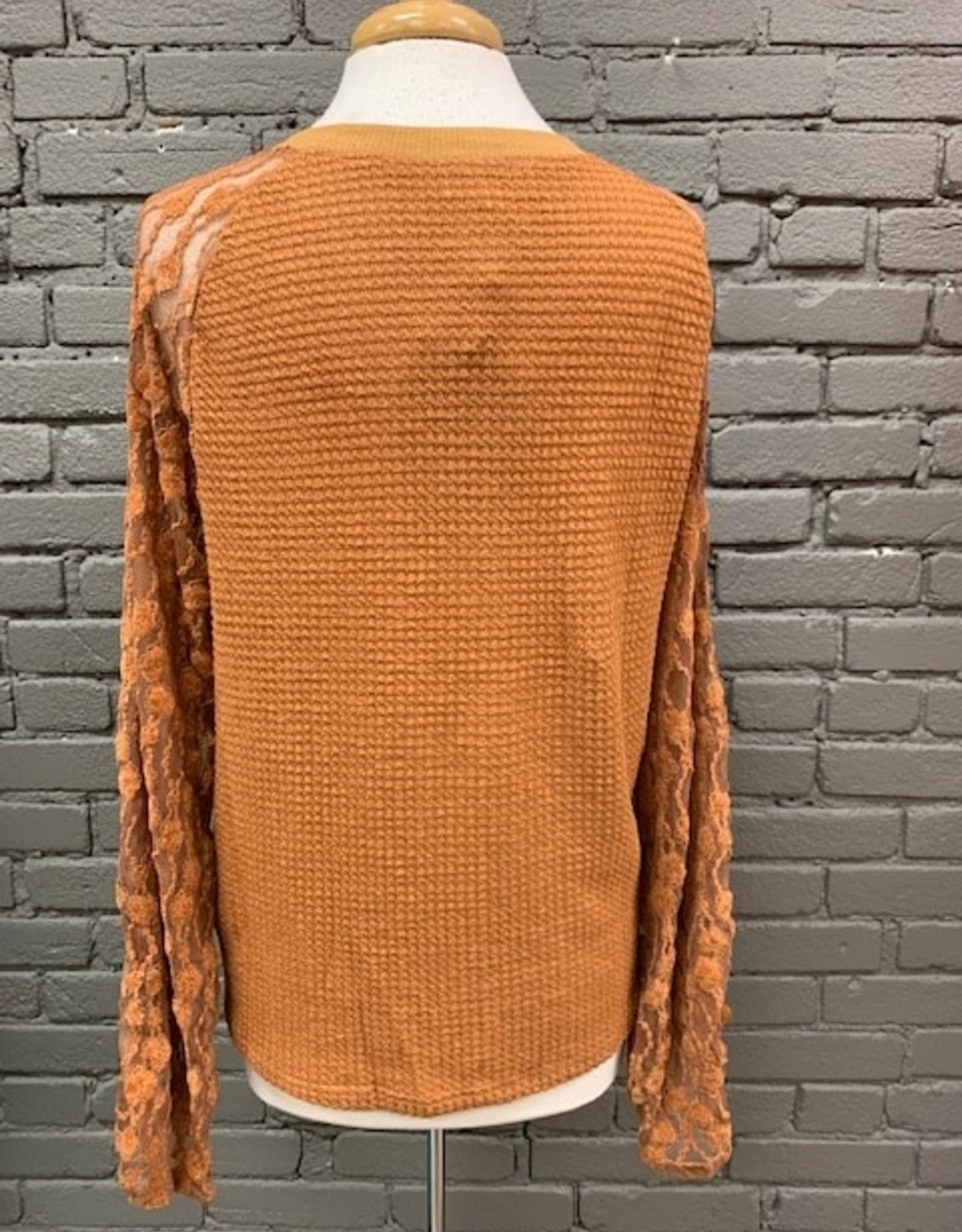 Long Sleeve Jenna Waffle Lace Sleeves LS