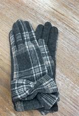 Gloves Plaid Knot Gloves