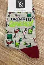 Socks Women's Crew Socks- DrinkUpGrinches