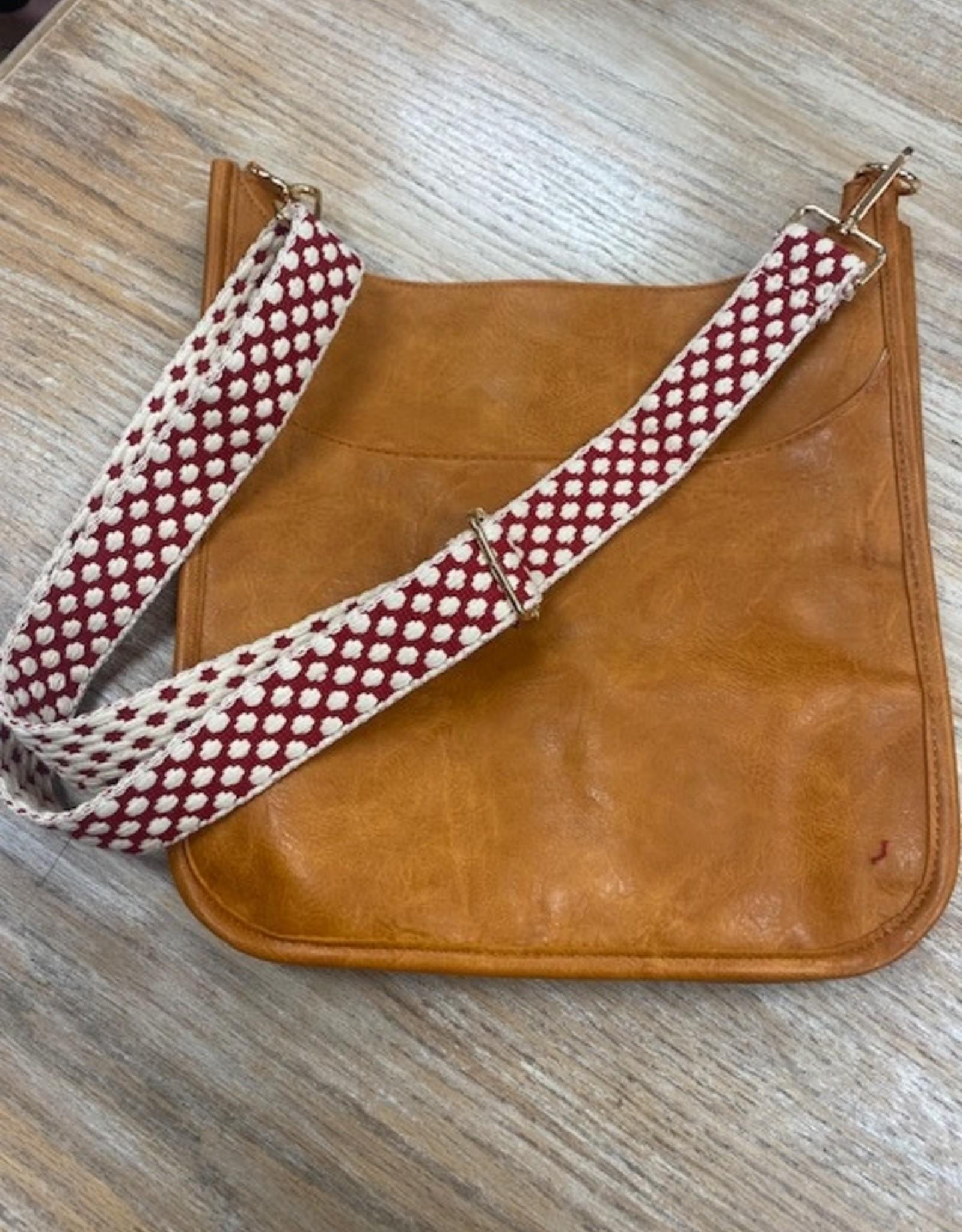 Bag Red Cream Dot Woven Bag Strap