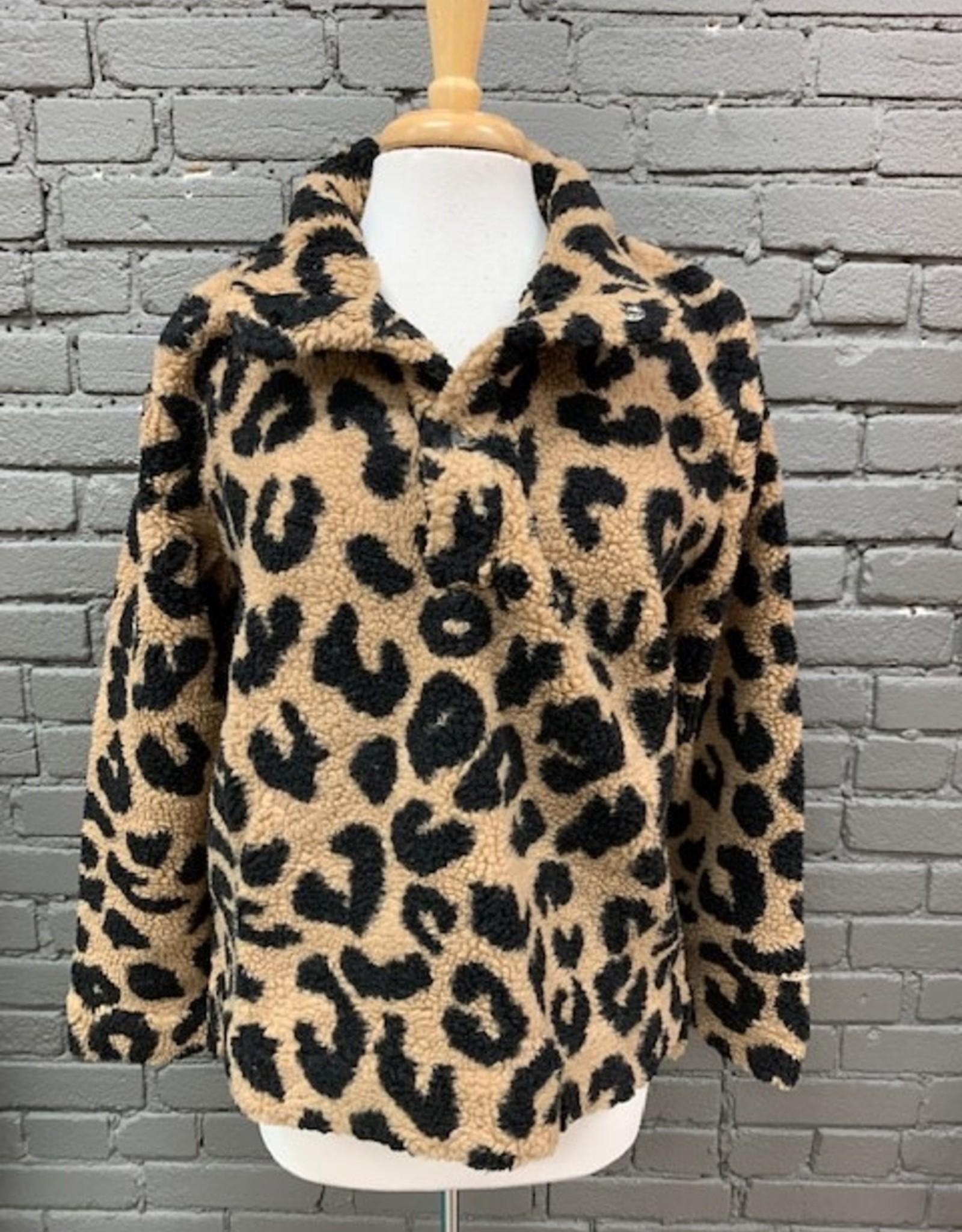 Pullover Brady Sherpa Leopard Pullover