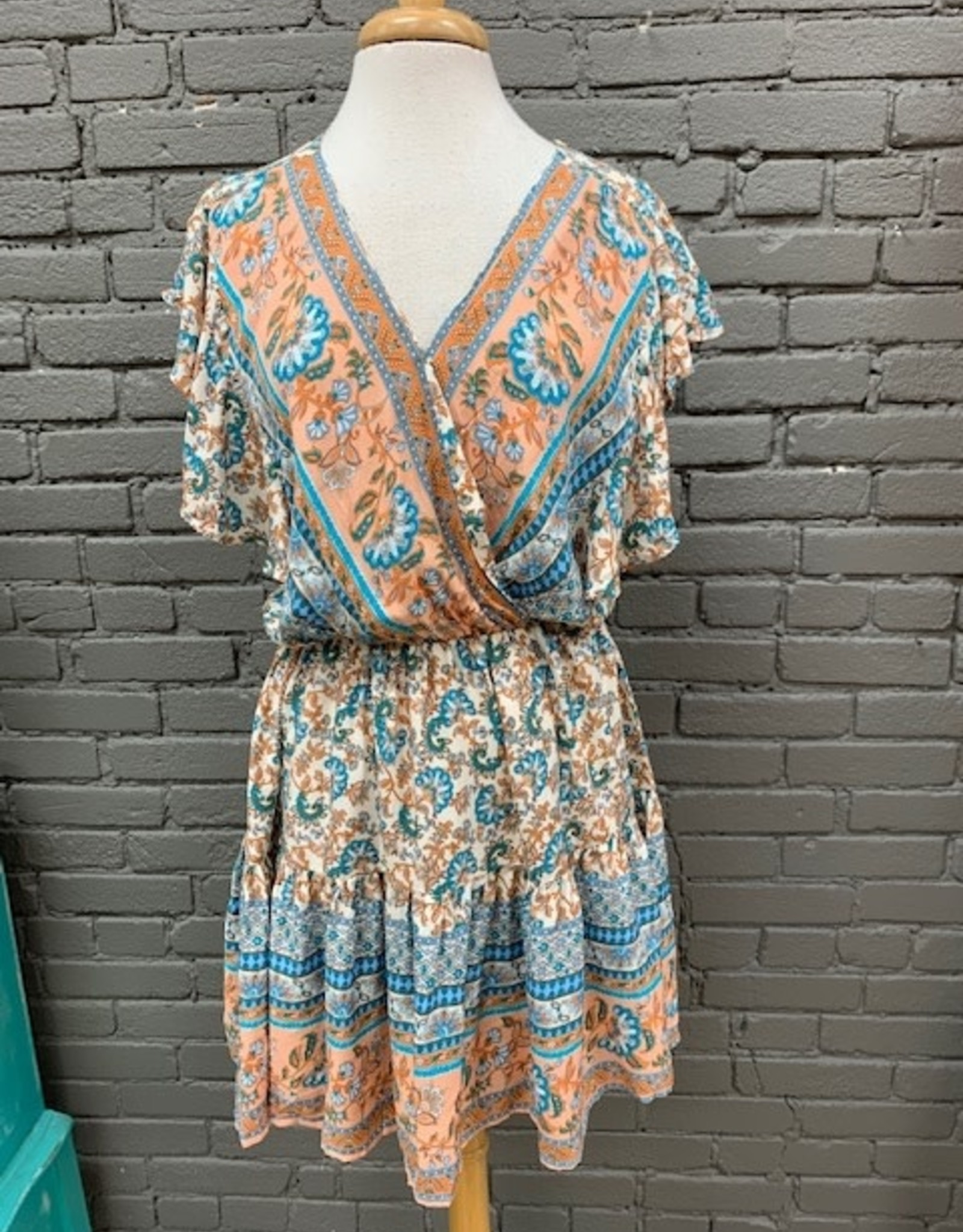 Dress Blake Paisley Wrap Ruffle Dress