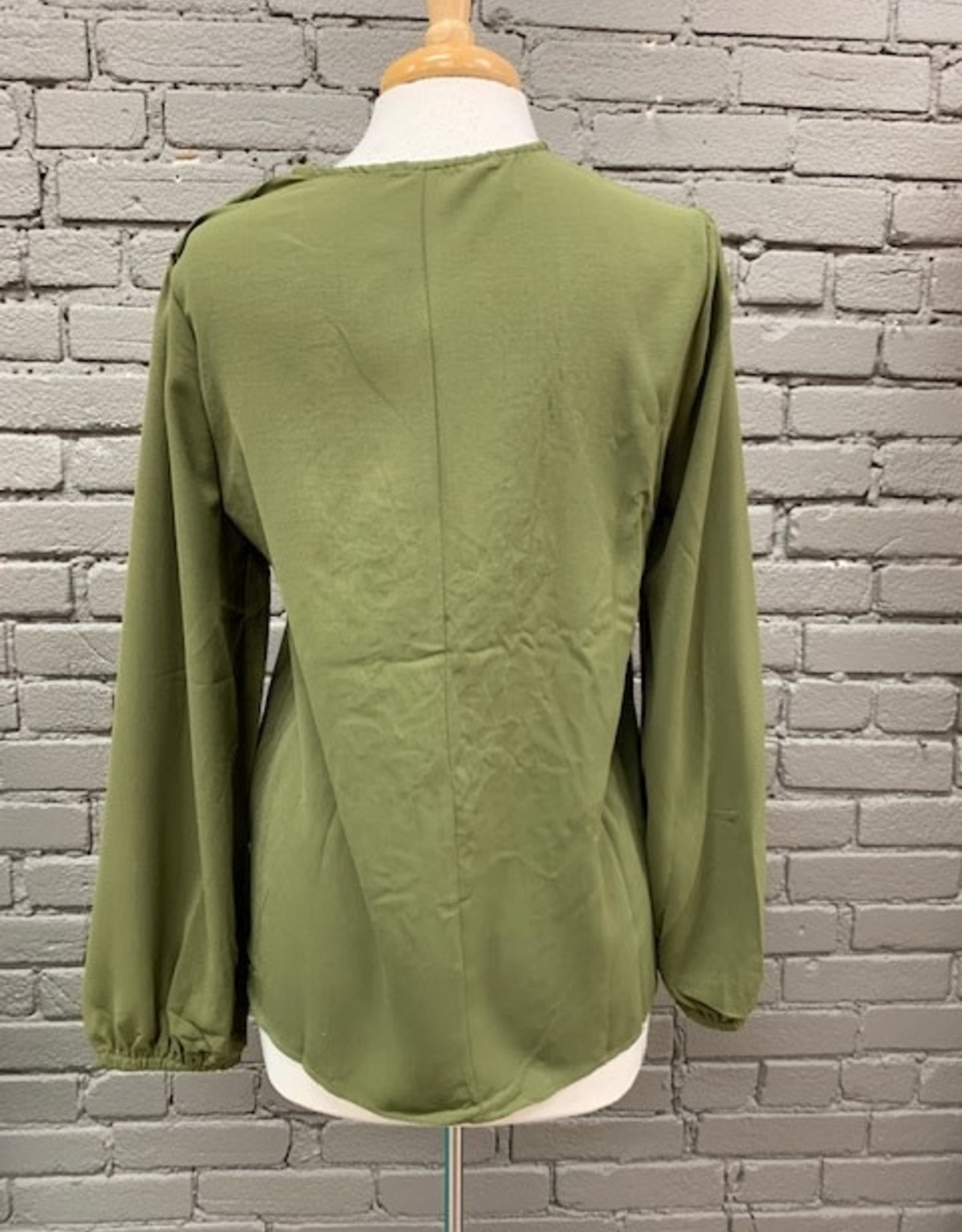 Long Sleeve Taylor Embroid LS Top