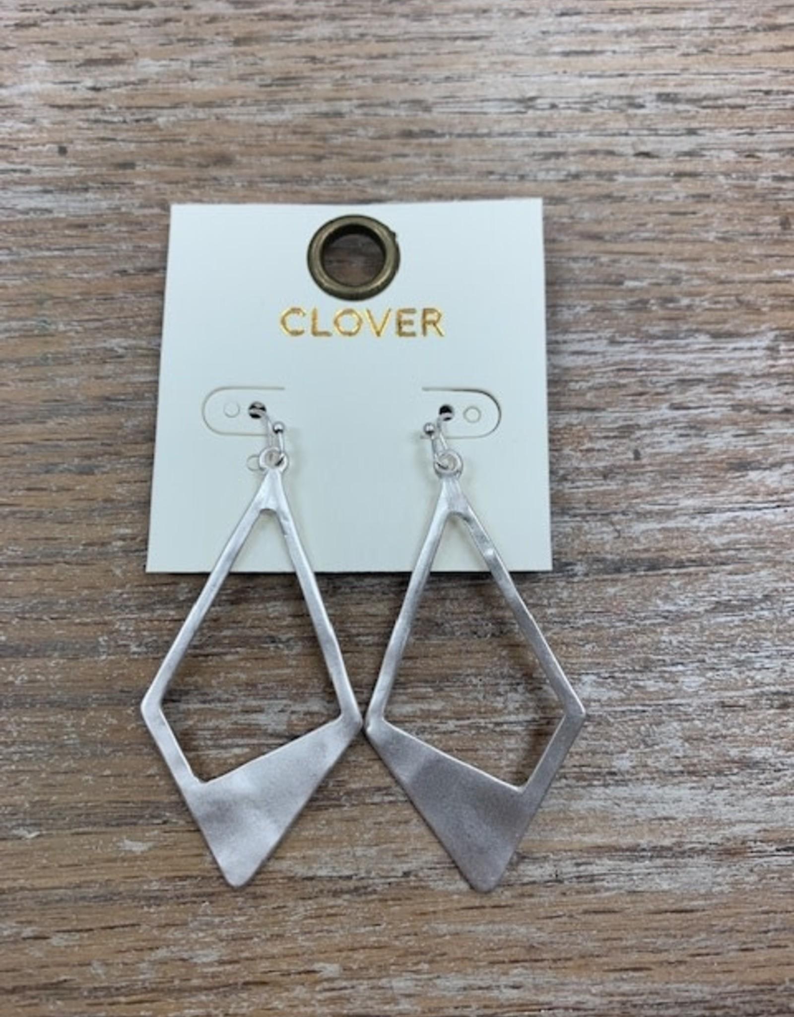 Jewelry Silver Matte Triangle Earrings