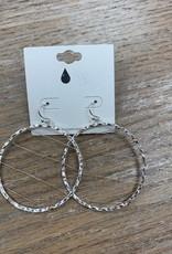 Jewelry Silver Circle Gold Web Earrings
