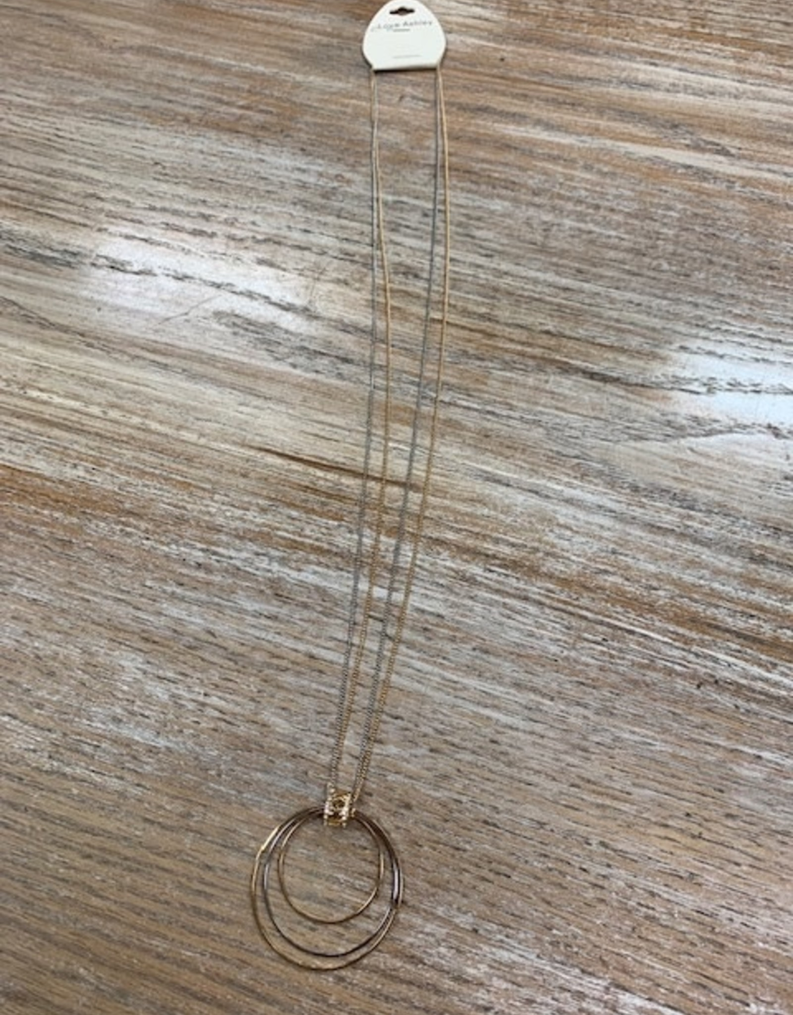 Jewelry Long Gold Hoop Necklace