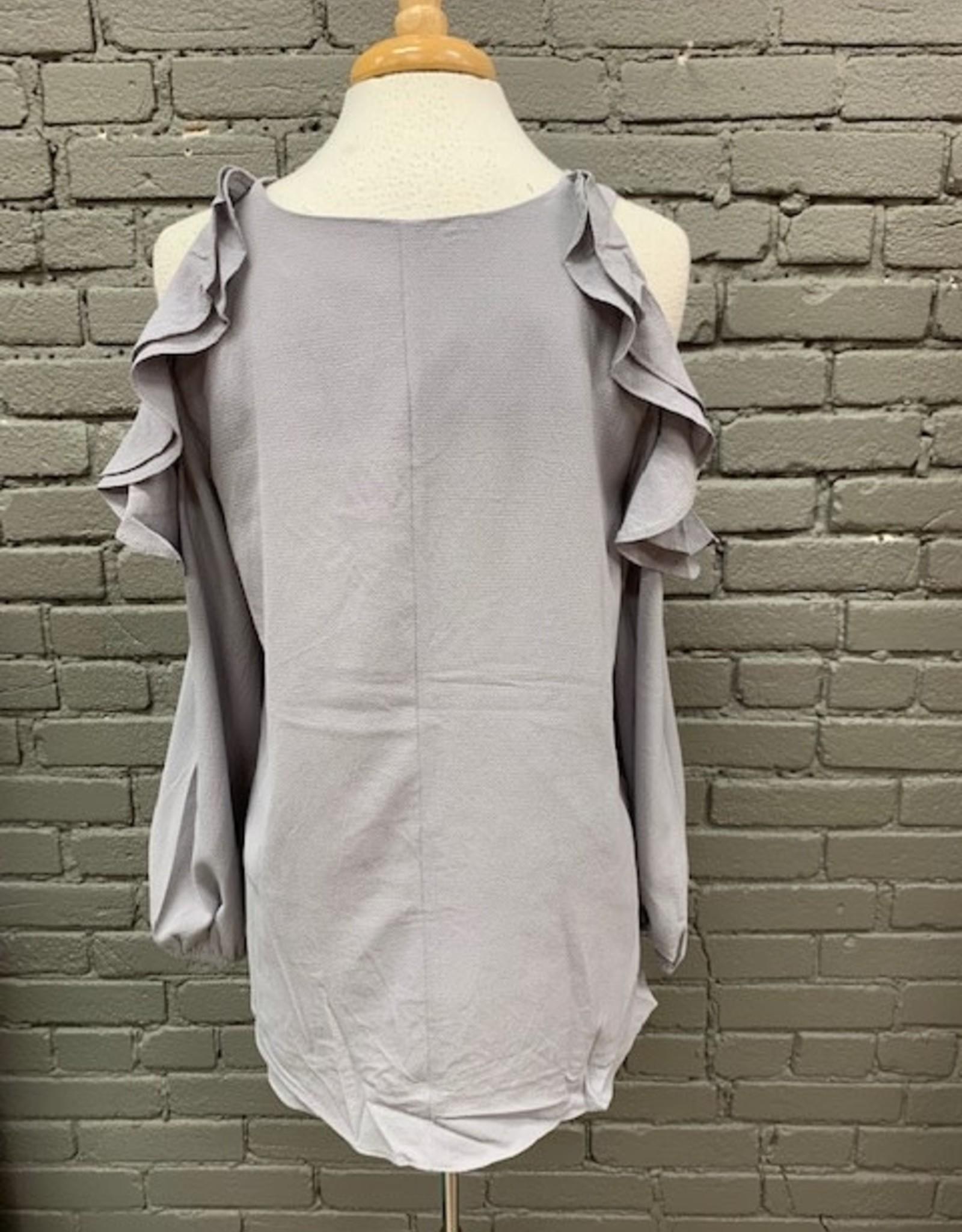 Long Sleeve Robin Cold Shoulder Ruffle LS
