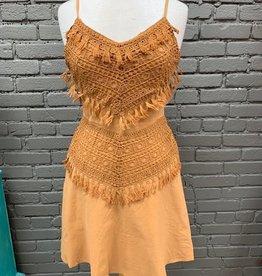 Dress Miranda V-neck Lace Tassel Tie Dress