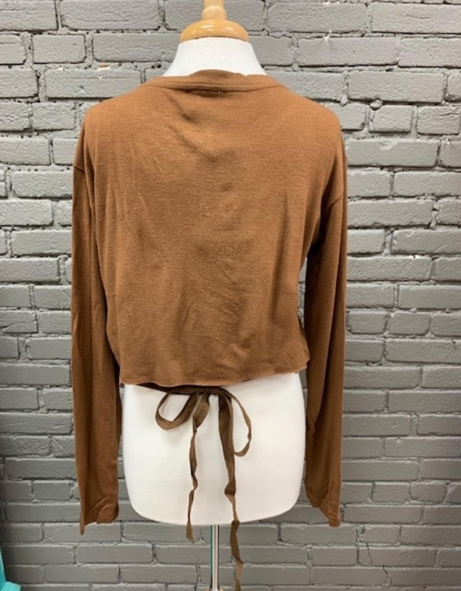 Long Sleeve Nancy Knit Waist Tie LS