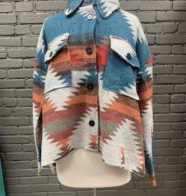 Jacket Amber Aztec Jacket w/Buttons