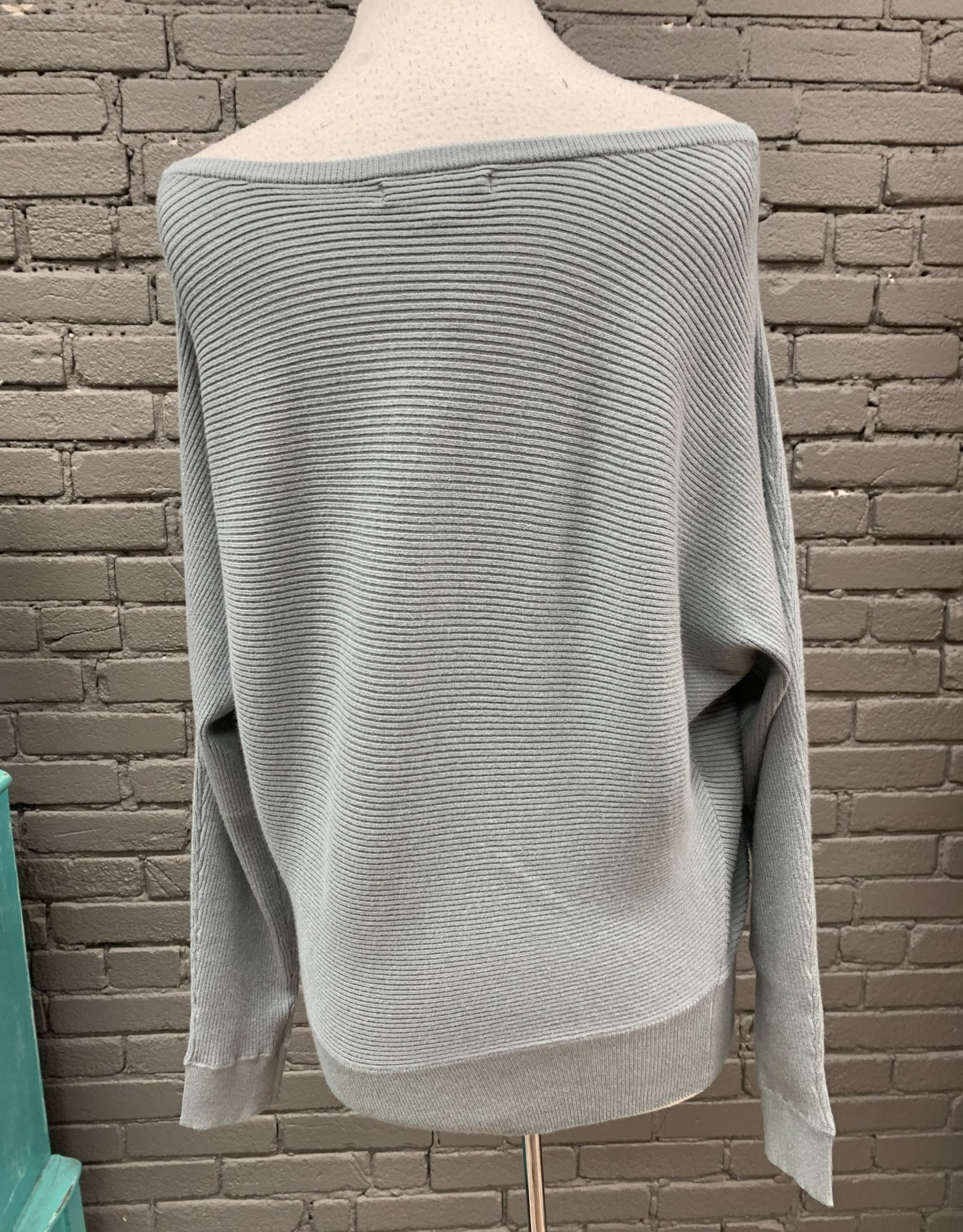 Sweater Aurelia Leaf Off The Shoulder Sweater