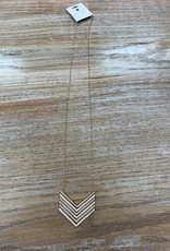 Jewelry Love Gold Silver Bar Arrow Necklace