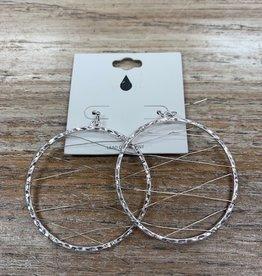 Jewelry Silver Circle Silver Web Earrings