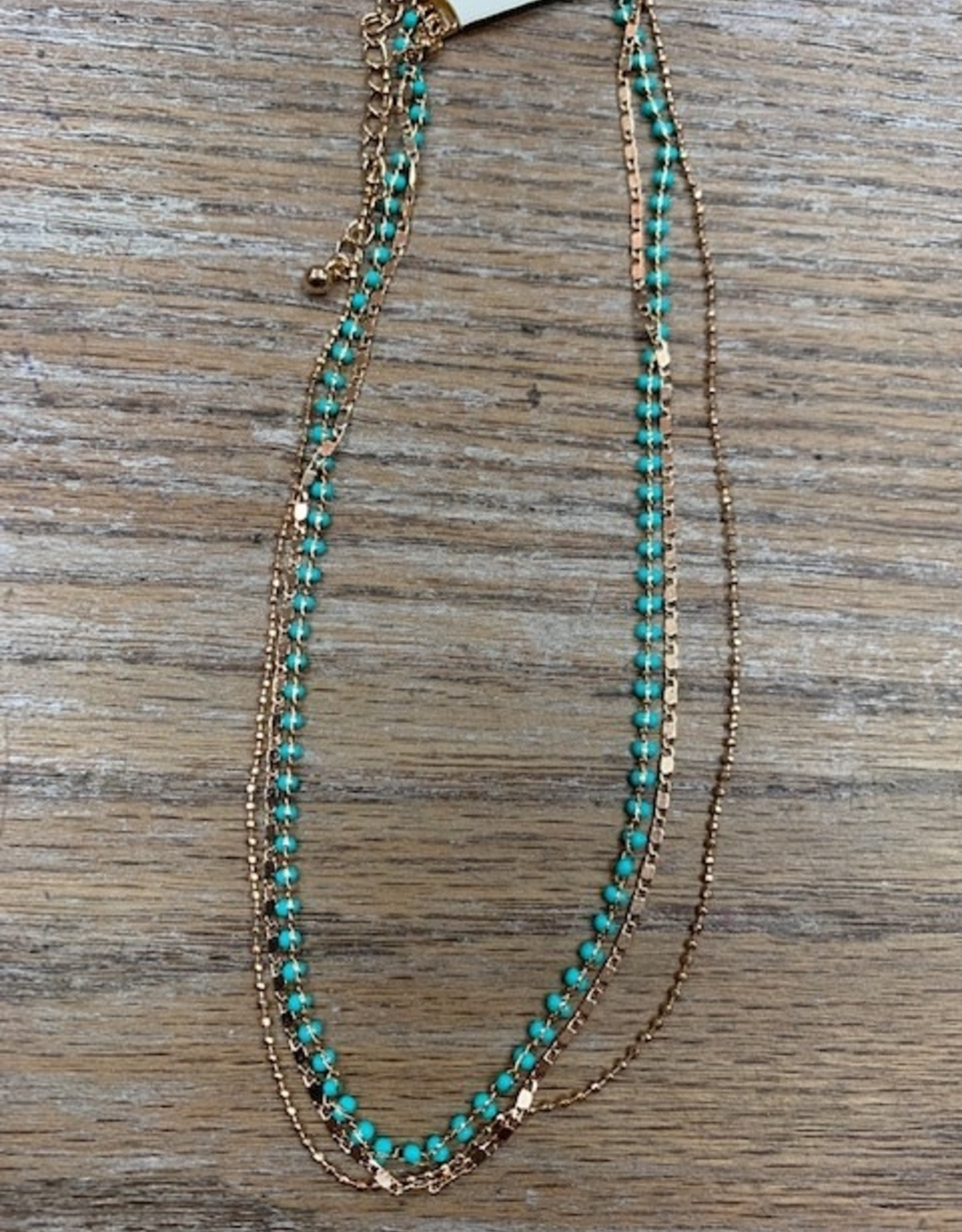 Jewelry Multi Chain Turq Necklace