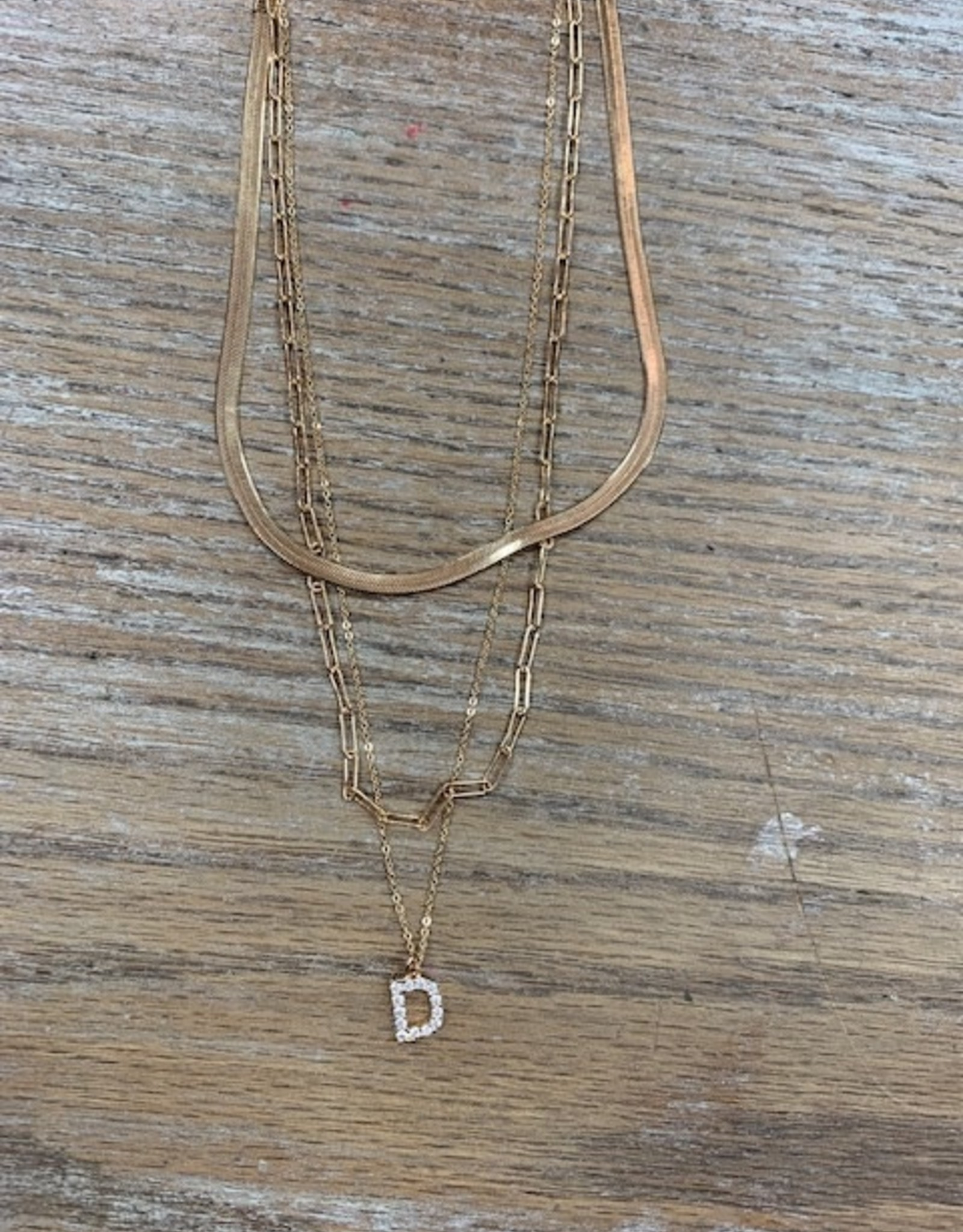 Jewelry Multi Chain Initial Necklace