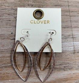 Jewelry Silver Gold Teardrop Earrings