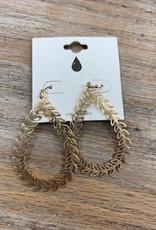Jewelry Gold Leaf Teardrop Earrings