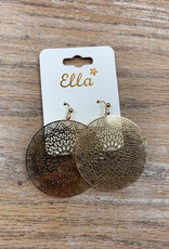 Jewelry Gold Mandala Earrings