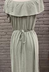 Dress Breann green tie waist dress