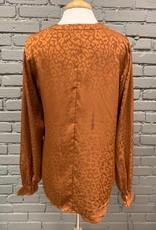 Long Sleeve Maxine Copper Leopard LS