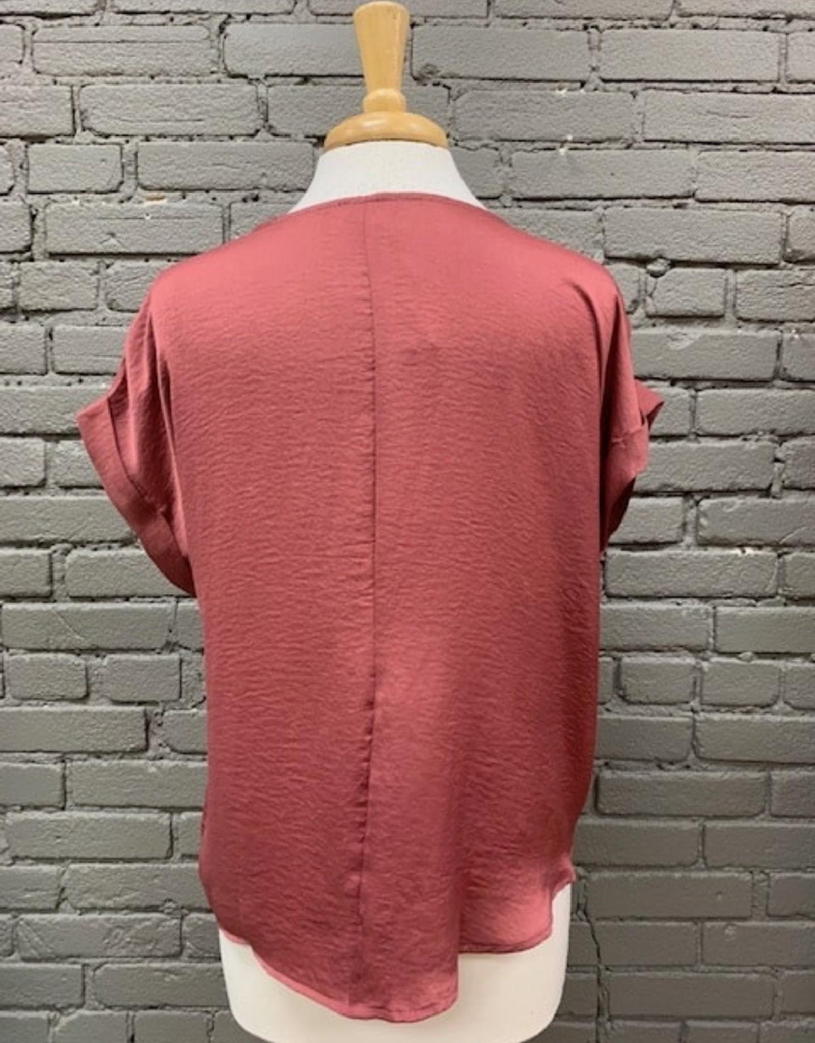 Shirt Glenda Satin Rouched Top