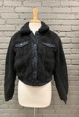 Jacket Monet Crop Sherpa Jacket