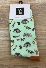 Socks Women's Crew Socks- CoffeeTime