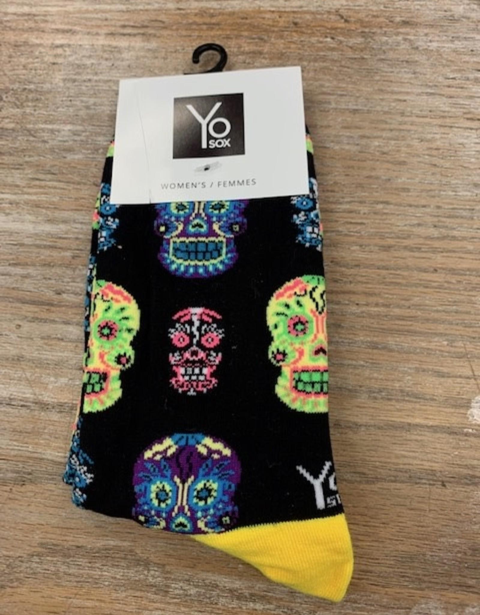 Socks Women's Crew Socks- CandySkull