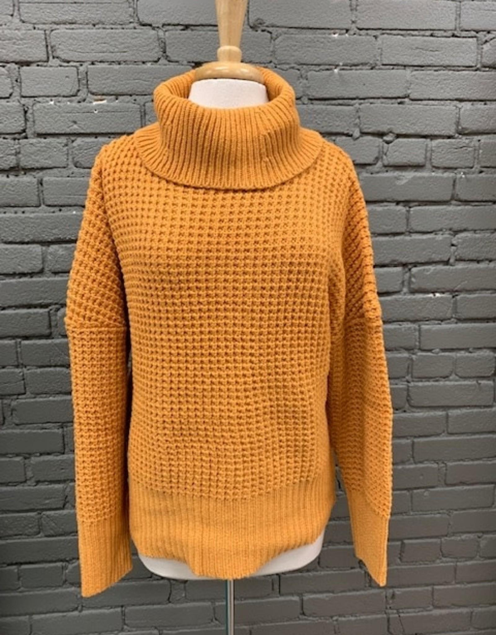 Sweater Randi Waffle Turtleneck Sweater