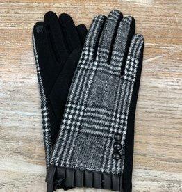 Gloves Plaid Ruffle Touchscreen Gloves
