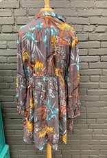 Dress Estelle Floral Caller Neck Dress