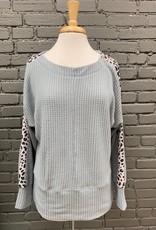 Long Sleeve Fionna Dolman Leopard LS