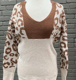 Sweater Dannica leopard print sweater