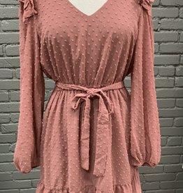 Dress Adley ruffle pink dress
