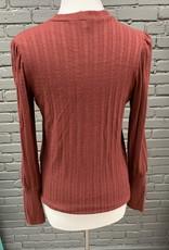 Sweater Darby burgundy knit sweater
