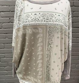 Long Sleeve Destiny paisley patchwork long sleeve