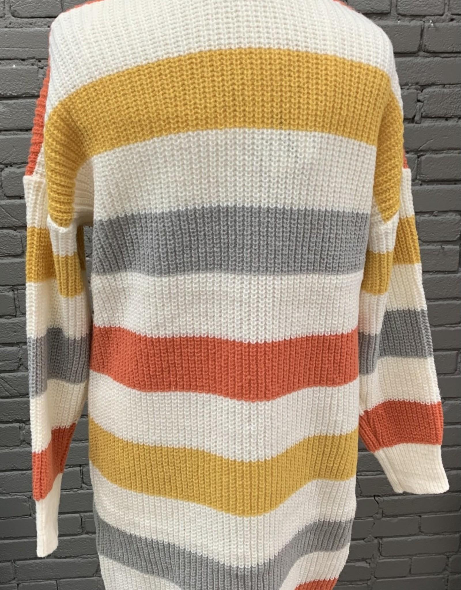 Cardigan Meara stripped knit cardigan