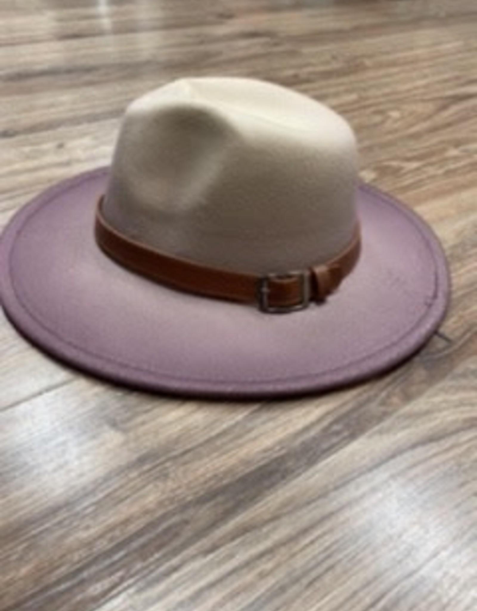 Hat Gracie purple felt hat one size