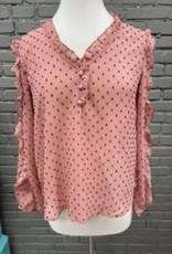 Long Sleeve Christine pink polka dot long sleeve