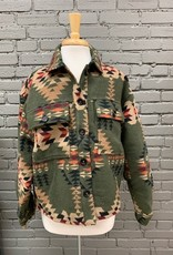 Jacket Jessie Aztec Button Jacket