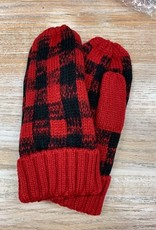 Mittens Red Buffalo Plaid Mittens