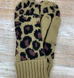 Mittens Leopard Knit Mittens
