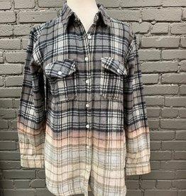 ButtonDown Grey Plaid Flannel