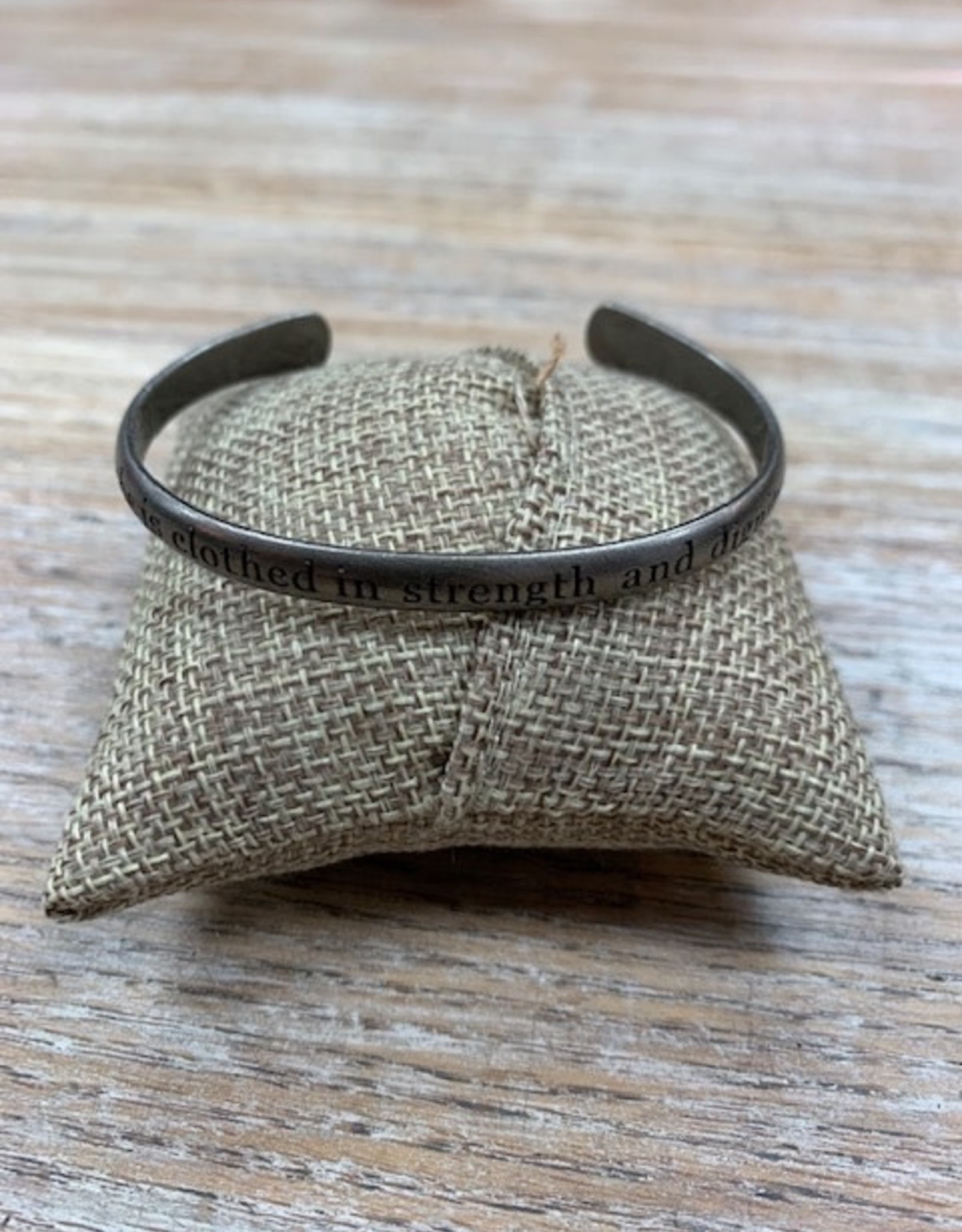 Jewelry She is Clothed Silver Cuff Bracelet