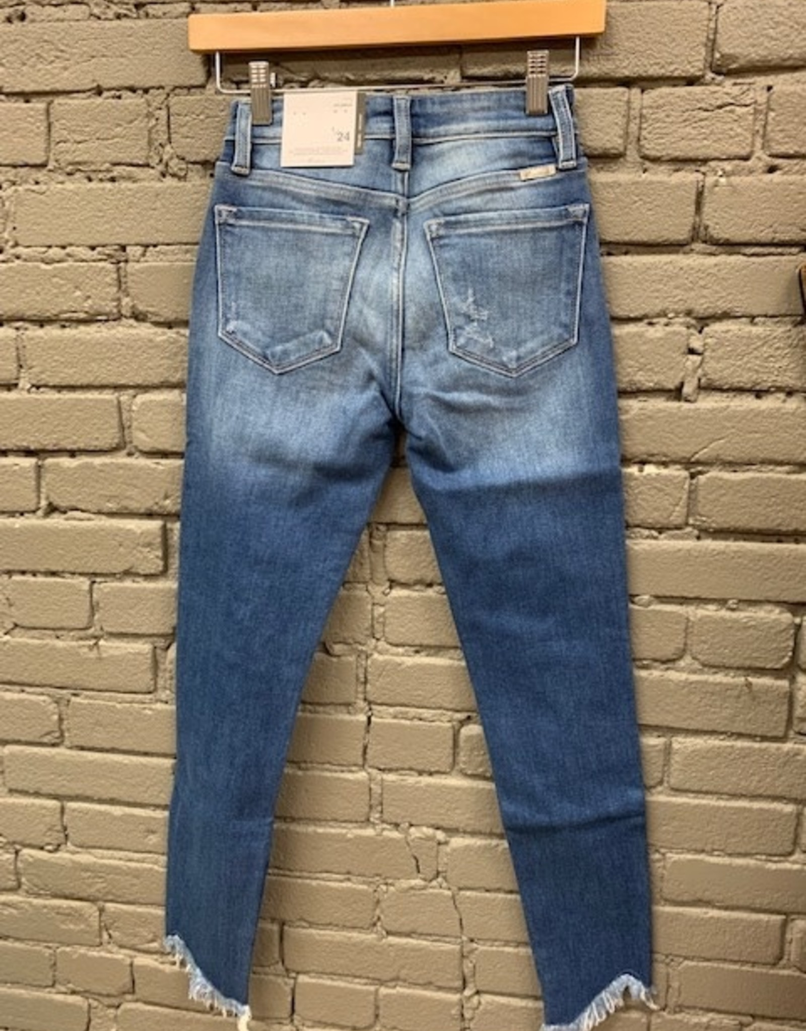 Jean Janice High Rise Frayed Jeans