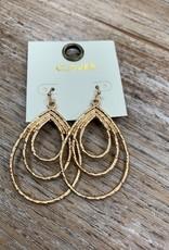 Jewelry Gold Multi Oval Earrings